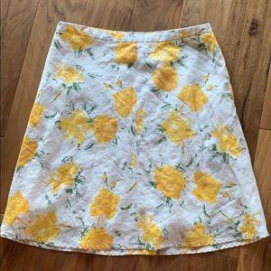 Banana Republic linen floral lined skirt-Sz.10